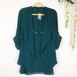 TORRID crepe blazer & camisole set sequins